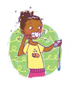 brushing your teeth girl tween illustration girls body book