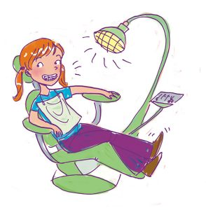 dentist visit girls body book tween illustration