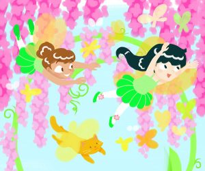 Fairy Chase illustration for Fairy Ballerina Puzzles App