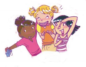 friends posing for camera tween illustration friend 2 friend book selfie
