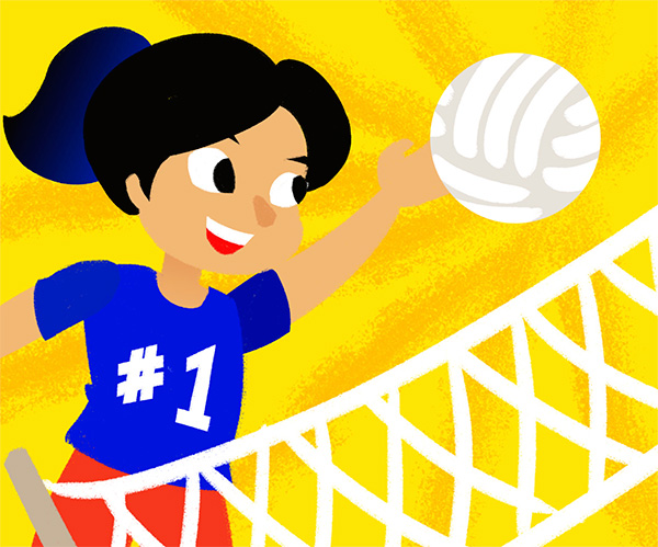 Volleyball Player illustration for Sports Puzzles App