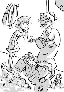grandmother's gift for sophie tween black and white illustration book brother