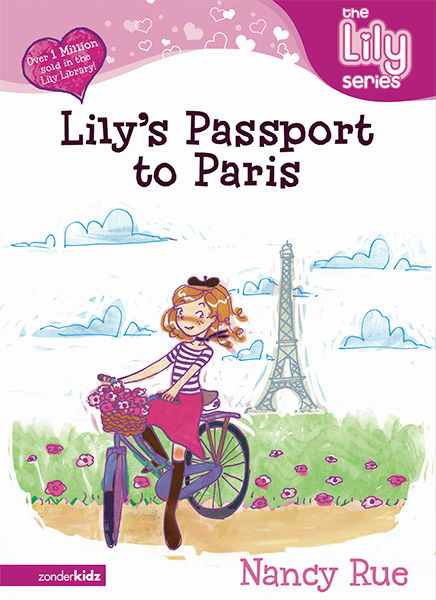 lily paris tween book cover illustration