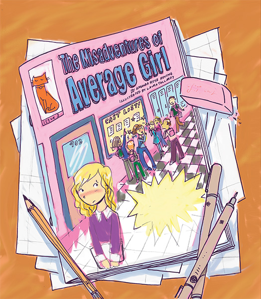 misadventures of average girl illustration american girl magazine
