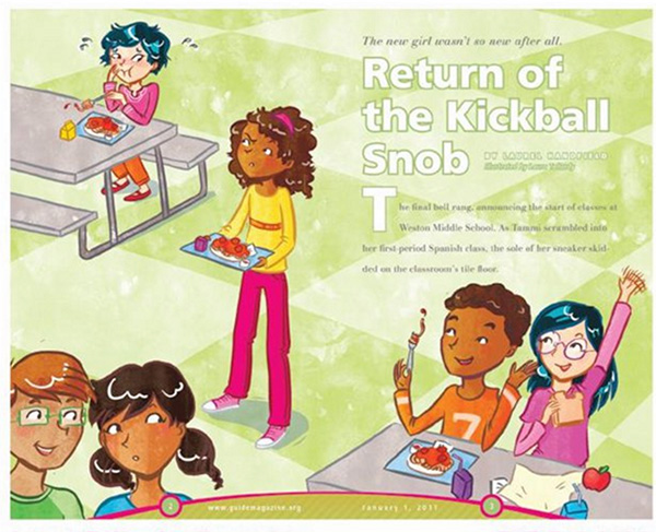 return kickball snob tween illustration guide magazine