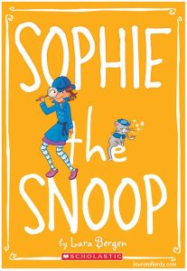 scholastic's sophie series tween book illustration sophie the snoop