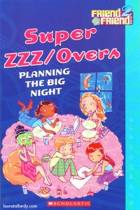super sleepovers tween book cover illustration