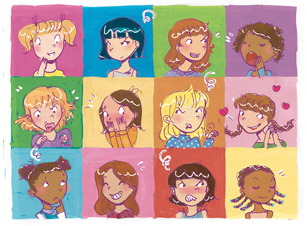 tween emotion faces expressions illustration feelings